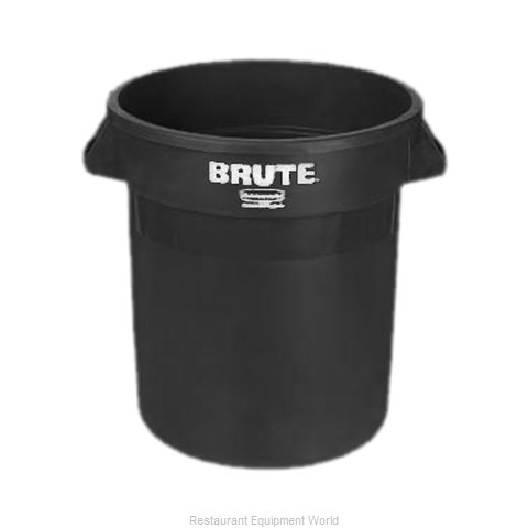 Rubbermaid 1779737 44 Gallon Black BRUTE® Container (Magnified)