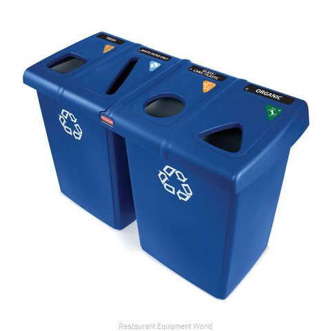 Rubbermaid 1792372 Waste Receptacle Recycle