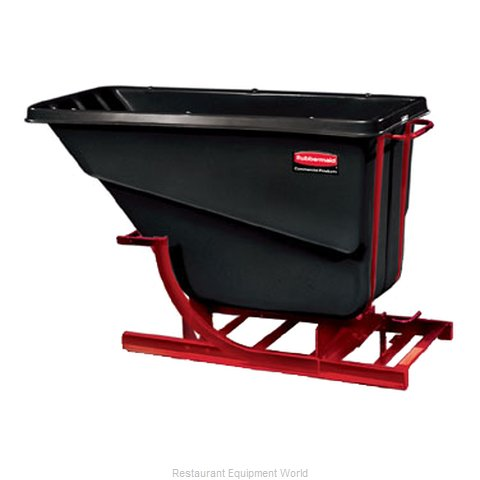 Rubbermaid FG105400BLA Hopper, Self Dumping
