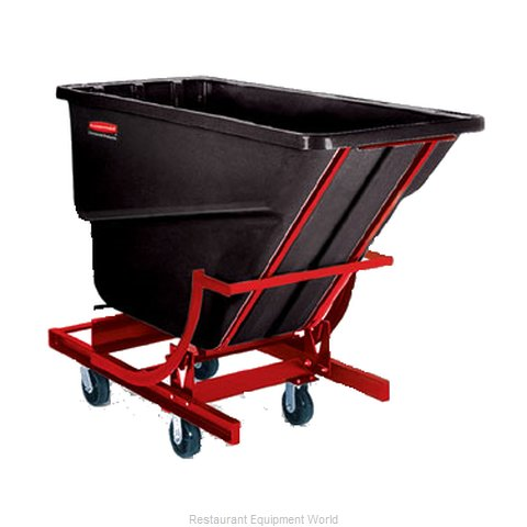 Rubbermaid FG107443BLA Hopper, Self Dumping