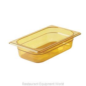 Rubbermaid FG210P00AMBR Food Pan, Plastic Hi-Temp