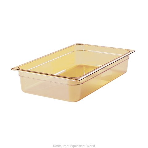 Rubbermaid FG231P00AMBR Food Pan Steam Table Plastic Hi-temp