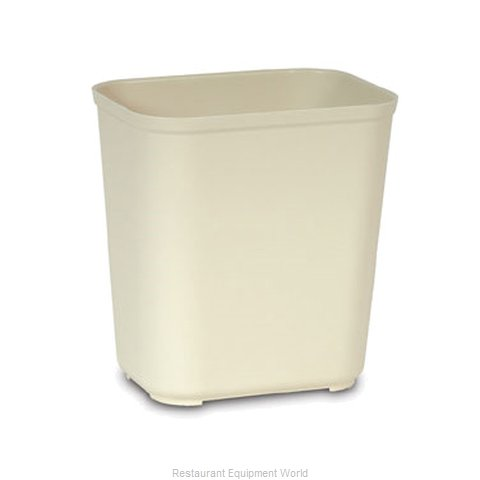 Rubbermaid FG254300BEIG Waste Basket Plastic (Magnified)