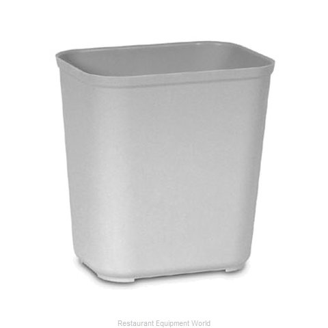 Rubbermaid FG254300GRAY Waste Basket, Plastic (Magnified)