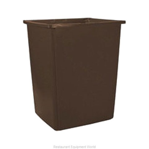 Rubbermaid FG256B00BRN Trash Garbage Waste Container Stationary