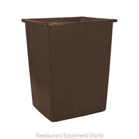 Rubbermaid FG256B00BRN Trash Receptacle, Outdoor/Indoor