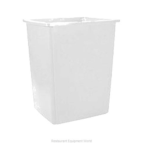 Rubbermaid FG256B00OWHT Trash Garbage Waste Container Stationary