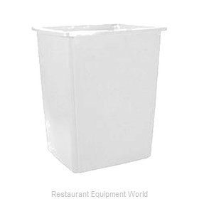 Rubbermaid FG256B00OWHT Trash Receptacle, Outdoor/Indoor