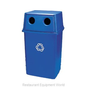 Rubbermaid FG256L00DBLUE Cover Garbage Waste Receptacle Can
