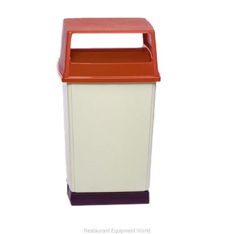 Rubbermaid FG256W00BLA Trash Garbage Waste Container Stationary