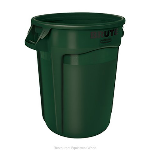 Rubbermaid FG263200DGRN Trash Garbage Waste Container Stationary