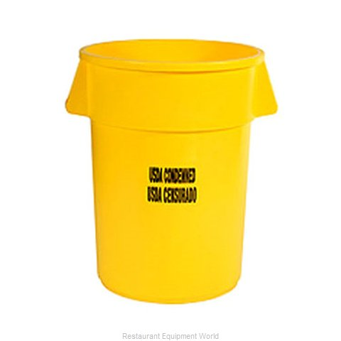 Rubbermaid FG264346YEL Trash Garbage Waste Container Stationary
