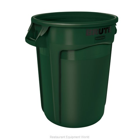 Rubbermaid FG265500DGRN Trash Garbage Waste Container Stationary