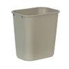 Rubbermaid FG295600BEIG Waste Basket, Plastic