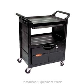 Rubbermaid FG345700BLA Utility Cart