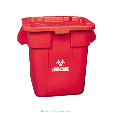 Rubbermaid FG351700RED Trash Receptacle, Indoor