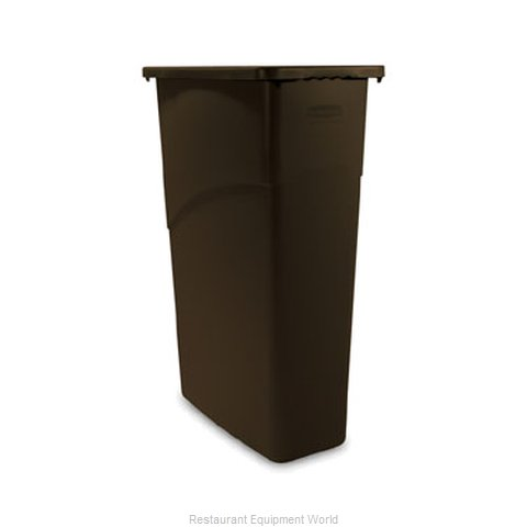 Rubbermaid FG354000BRN Trash Garbage Waste Container Stationary