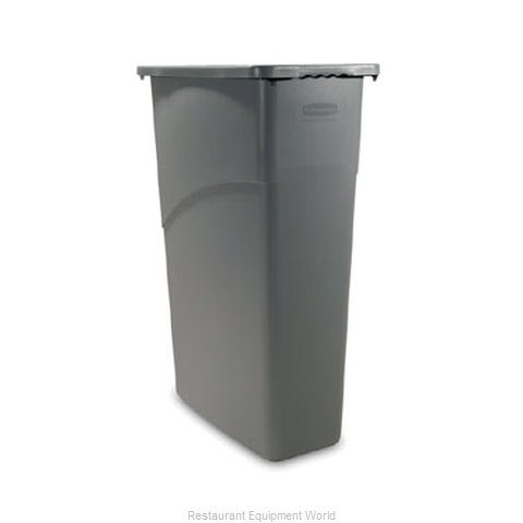 Rubbermaid FG354000GRAY Trash Garbage Waste Container Stationary
