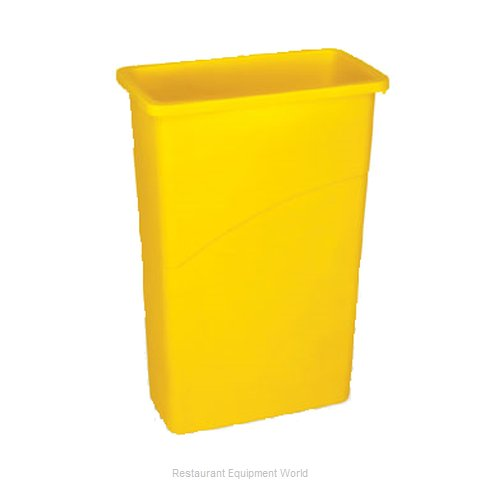 Rubbermaid FG354000YEL Trash Garbage Waste Container Stationary