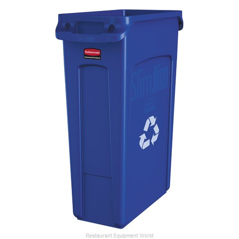 Rubbermaid FG354007BLUE Waste Receptacle Recycle