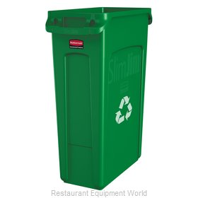 Rubbermaid FG354007GRN Waste Receptacle Recycle