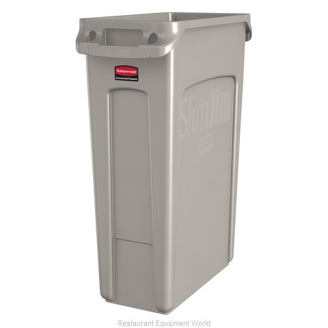 Rubbermaid FG354060BEIG Trash Garbage Waste Container Stationary