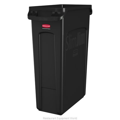 Rubbermaid FG354060BLA Trash Garbage Waste Container Stationary