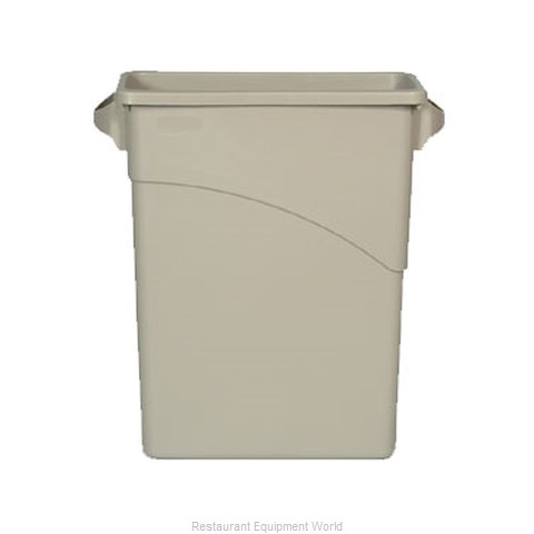 Rubbermaid FG354100BEIG Trash Garbage Waste Container Stationary