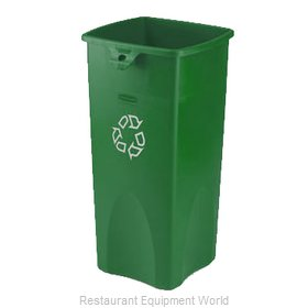 Rubbermaid FG356907GRN Waste Receptacle Recycle