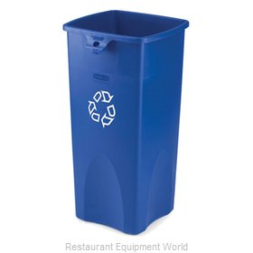Rubbermaid FG356973BLUE Waste Receptacle Recycle
