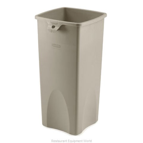 Rubbermaid FG356988BEIG Trash Receptacle, Indoor (Magnified)