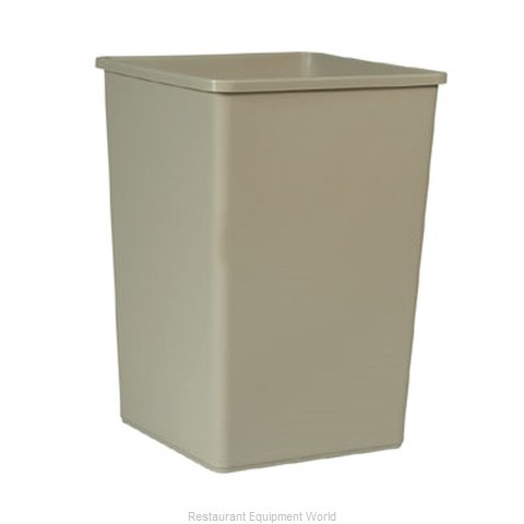 Rubbermaid FG395800BEIG Trash Garbage Waste Container Stationary