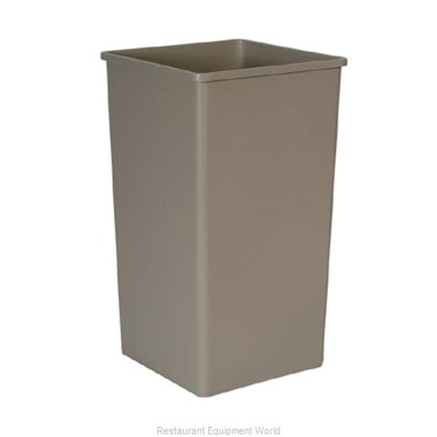 Rubbermaid FG395900BEIG Trash Garbage Waste Container Stationary