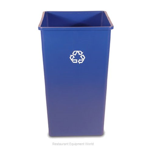 Rubbermaid FG395973BLUE Waste Receptacle Recycle