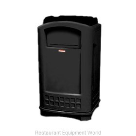 Rubbermaid FG396300BLA Trash Receptacle, Outdoor/Indoor