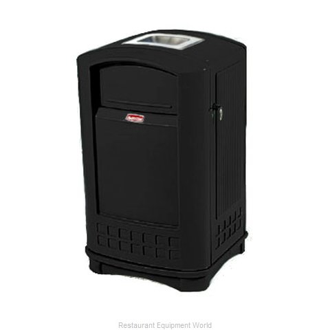 Rubbermaid FG396500BLA Trash Garbage Waste Container Stationary