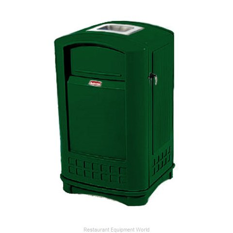 Rubbermaid FG396500DGRN Trash Garbage Waste Container Stationary