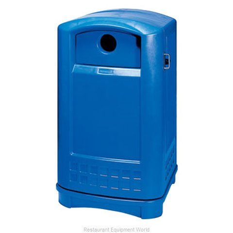 Rubbermaid FG396873BLUE Waste Receptacle Recycle