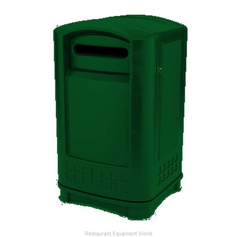 Rubbermaid FG396900DGRN Waste Receptacle Recycle