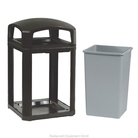 Rubbermaid FG397000BLA Waste Receptacle Outdoor