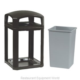 Rubbermaid FG397000BLA Trash Receptacle, Outdoor/Indoor