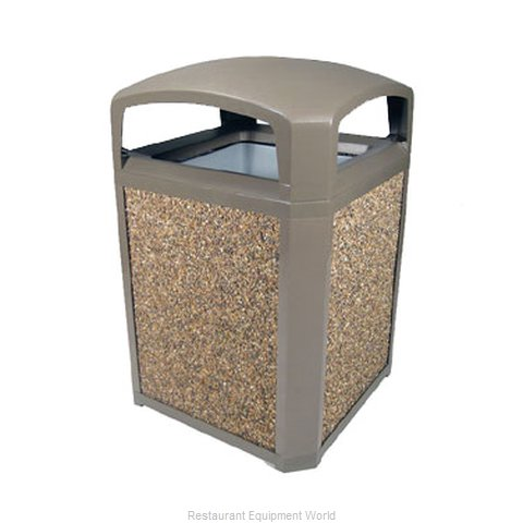 Rubbermaid FG397000DWOOD Trash Receptacle, Outdoor/Indoor (Magnified)