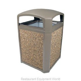 Rubbermaid FG397000DWOOD Trash Receptacle, Outdoor/Indoor
