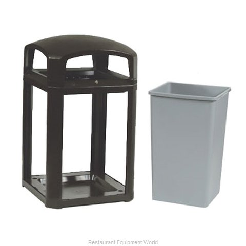 Rubbermaid FG397088BLA Waste Receptacle Outdoor (Magnified)