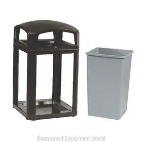 Rubbermaid FG397088BLA Trash Receptacle, Outdoor/Indoor