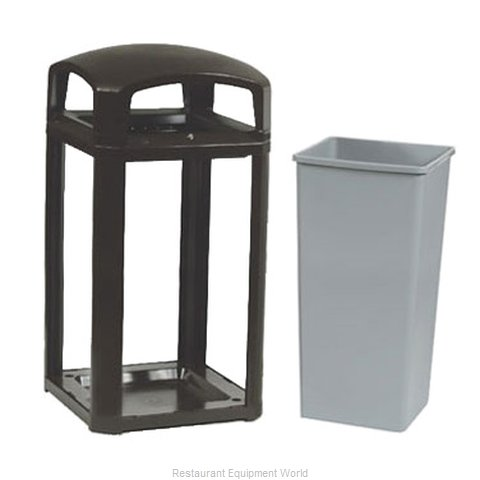 Rubbermaid FG397500BLA Trash Receptacle, Outdoor/Indoor