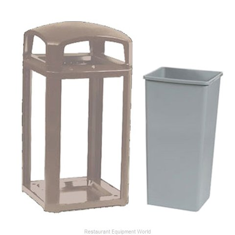 Rubbermaid FG397500DWOOD Waste Receptacle Outdoor