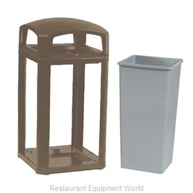 Rubbermaid FG397500SBLE Trash Receptacle, Outdoor/Indoor