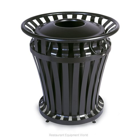 Rubbermaid FG402100BLA Waste Receptacle Outdoor (Magnified)
