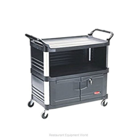 Rubbermaid FG409500BLA Utility Cart (Magnified)